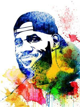 Le Bron James Watercolor by Jack Hunter