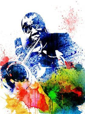 Louis Armstrong Watercolor by Jack Hunter