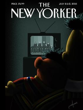 Moment of Joy - The New Yorker Cover, July 8, 2013 by Jack Hunter