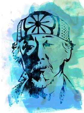 Mr. Miyagi Watercolor by Jack Hunter