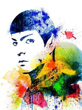 Spock Watercolor II by Jack Hunter