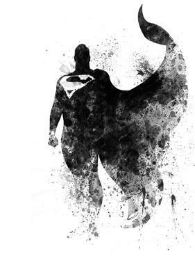 Superman Watercolor I by Jack Hunter