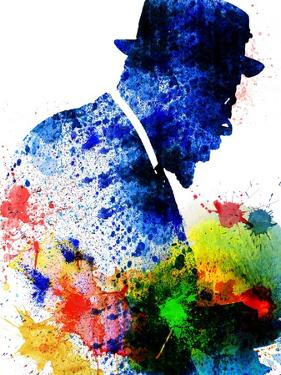 Thelonious Monk Watercolor by Jack Hunter