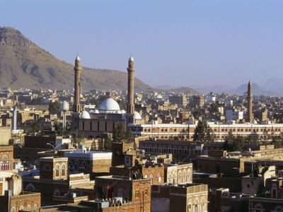 Cityscape of Sanaa, Yemen, Middle East