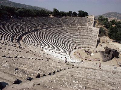 Restored Theatre, Epidaurus, Unesco World Heritage Site, Greece