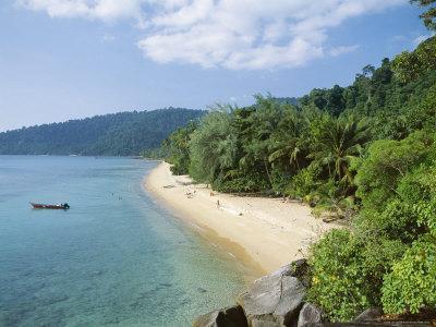 View Along the Coast, Nazri's Beach and Rainforest, Air Batang Bay, Pahang, Malaysia