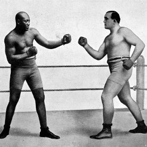 Jack Johnson and James Jeffries, 1910