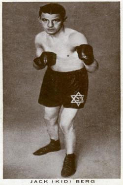 Jack 'Kid' Berg, English Boxer, 1938