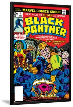 Black Panther No.1 Cover: Black Panther, Little, Abner and Princess Zanda Fighting by Jack Kirby