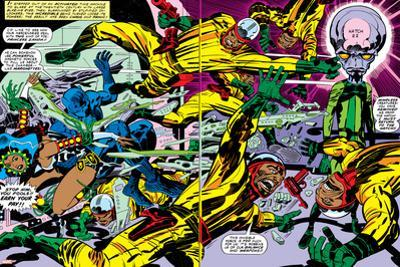 Black Panther No.2 Group: Black Panther, Princess Zanda and Hatch-22 by Jack Kirby