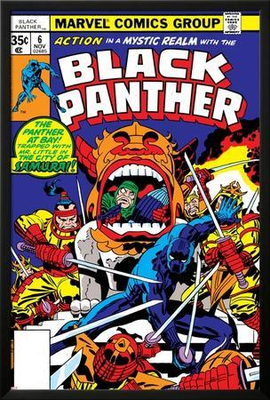 Black Panther No.7 Cover: Black Panther Charging by Jack Kirby