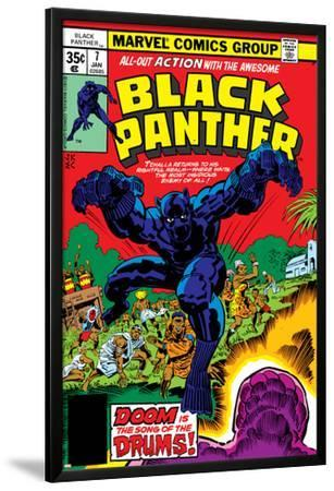 Black Panther No.7 Cover: Black Panther Fighting by Jack Kirby