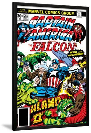 Captain America And The Falcon No.203 Cover: Captain America, Falcon, Marvel Comics and Thor by Jack Kirby