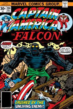 Captain America And The Falcon No.204 Cover: Captain America, Falcon and Agron Fighting by Jack Kirby
