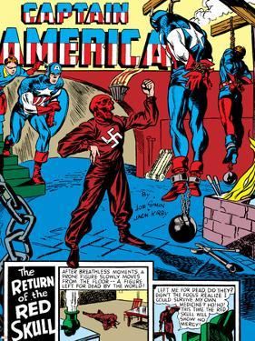 Captain America Comics #3 Cover: Captain America, Bucky and Red Skull by Jack Kirby