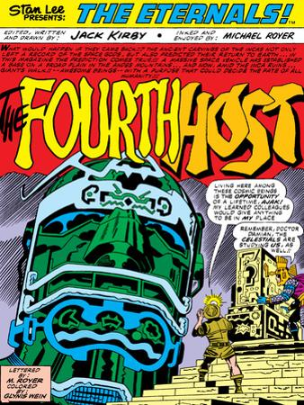 Eternals Annual No.1 Cover: Marvel Universe by Jack Kirby
