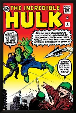 Incredible Hulk No.3 Cover: Hulk, Jones and Rick by Jack Kirby