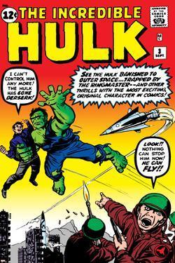 Incredible Hulk No.3 Cover: Hulk, Jones and Rick by Jack Kirby