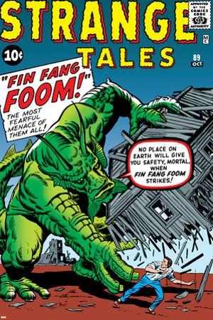 Journey Into Mystery No.62 Cover: Fin Fang Foom by Jack Kirby