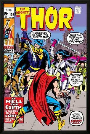 Thor No.179 Cover: Thor, Balder and Sif by Jack Kirby