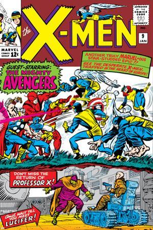 X-Men No.9 Cover: Lucifer by Jack Kirby