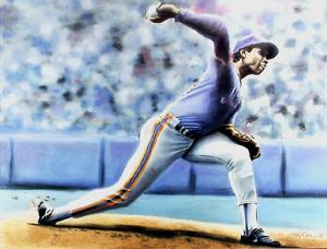 The Delivery (New York Mets Dwight Gooden) by Jack Lane