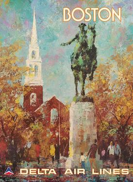 Boston, Massachusetts - Paul Revere Monument - Delta Air Lines by Jack Laycox