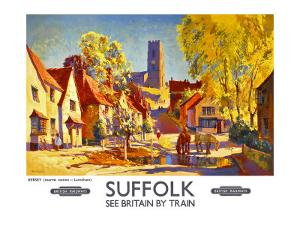 Suffolk, BR poster, circa 1950s by Jack Merriott