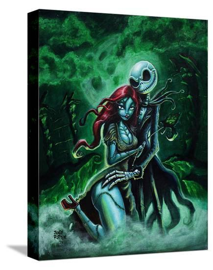 Jack & Sally-Joey Rotten-Stretched Canvas Print