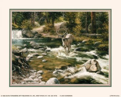 Buck in Midstream by Jack Sorenson