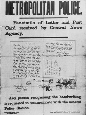 Jack the Ripper: Metropolitan Police Poster of 3 October 1888
