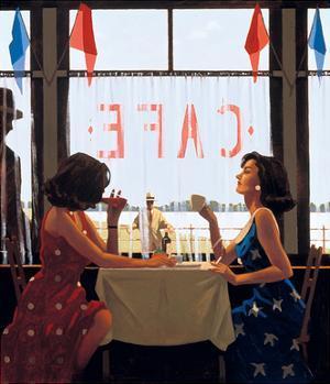 Café Days by Jack Vettriano