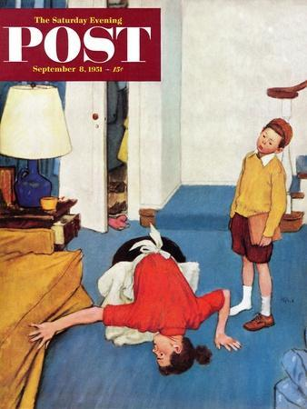 """""""Missing Shoe"""" Saturday Evening Post Cover, September 8, 1951"""