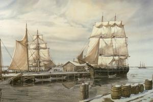 Drying Sails - New Bedford by Jack Wemp