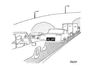 A license plate that reads LIC-PLT - New Yorker Cartoon by Jack Ziegler