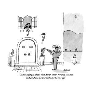 """Can you forget about that damn moon for two seconds and lend me a hand wi?"" - New Yorker Cartoon by Jack Ziegler"