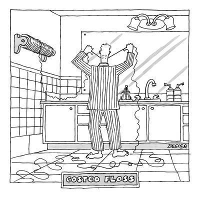 Costco Floss - New Yorker Cartoon