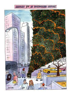 JANUARY 3RD AT ROCKEFELLER CENTER. - New Yorker Cartoon by Jack Ziegler