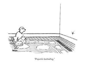 """Projectile hairballing."" - New Yorker Cartoon by Jack Ziegler"