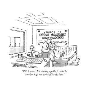 """""""This is great! It's shaping up like it could be another huge tax writeoff... - New Yorker Cartoon by Jack Ziegler"""
