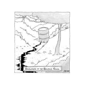 TITLE: Headwaters of the Gowanus Canal Waste bucket is the source for the ... - New Yorker Cartoon by Jack Ziegler