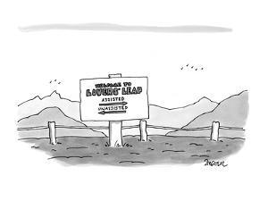 Welcome to Lovers' Leap, Assisted - New Yorker Cartoon by Jack Ziegler