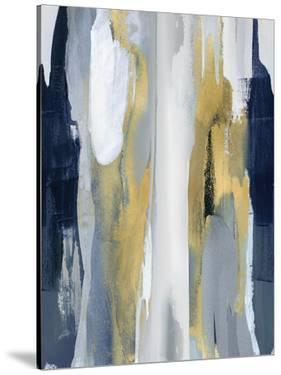 Converge Blue and Gold I by Jackie Hanson