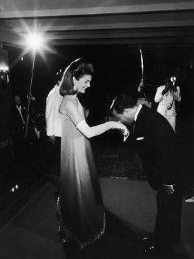 Jackie Kennedy Being Greeted by Prince Norodom Sihanouk Upon Her Arrival to the Palace for Dinner