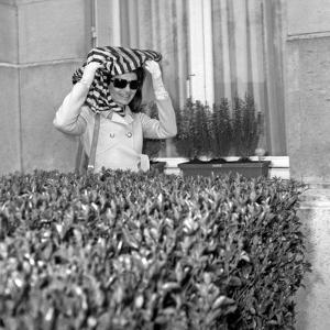 Jackie Kennedy Onassis (Nina Ricci Sunglasses) in Paris, Leaving Crillon Hotel, March, 19, 1970