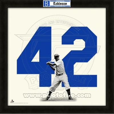 Jackie Robinson, Dodgers representation of the player's jersey
