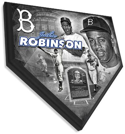 Jackie Robinson Home Plate Plaque