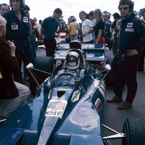 Jackie Stewart at the Wheel of a Racing Car, Driving for Tyrrell, C1971-C1973