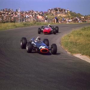 Jackie Stewart in a BRM, at the Dutch Grand Prix, Zandvoort, Holland, 1966