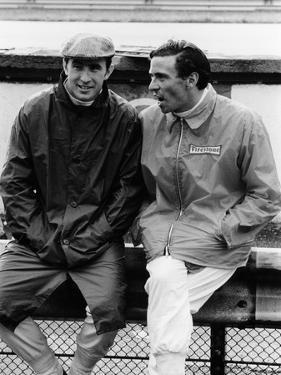 Jackie Stewart on the Left, and Jim Clark, 1967